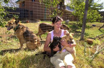 Steffensen, Barbara, with dogs. Animal rights and Rescue. Wollongbar 2.JPG